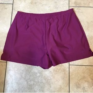 Nike purple dri fit shorts